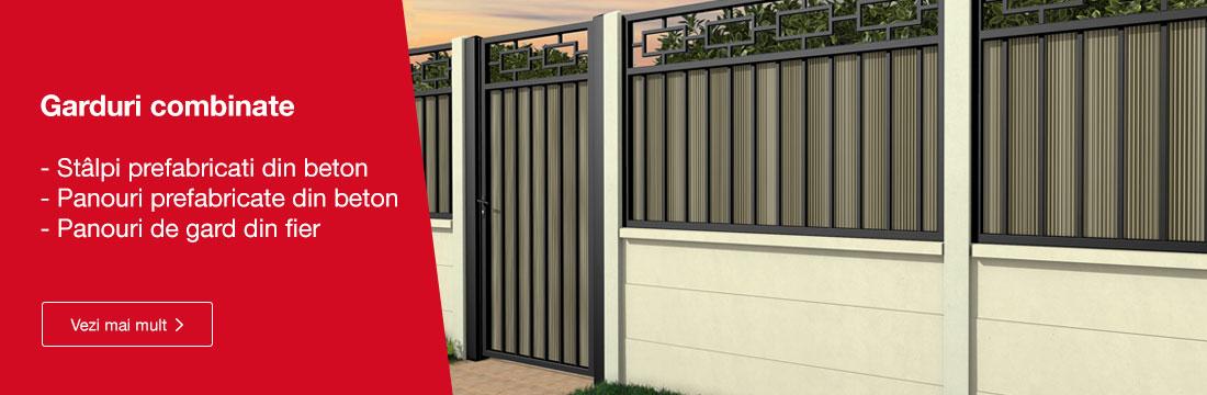 Gard beton + gard de fier
