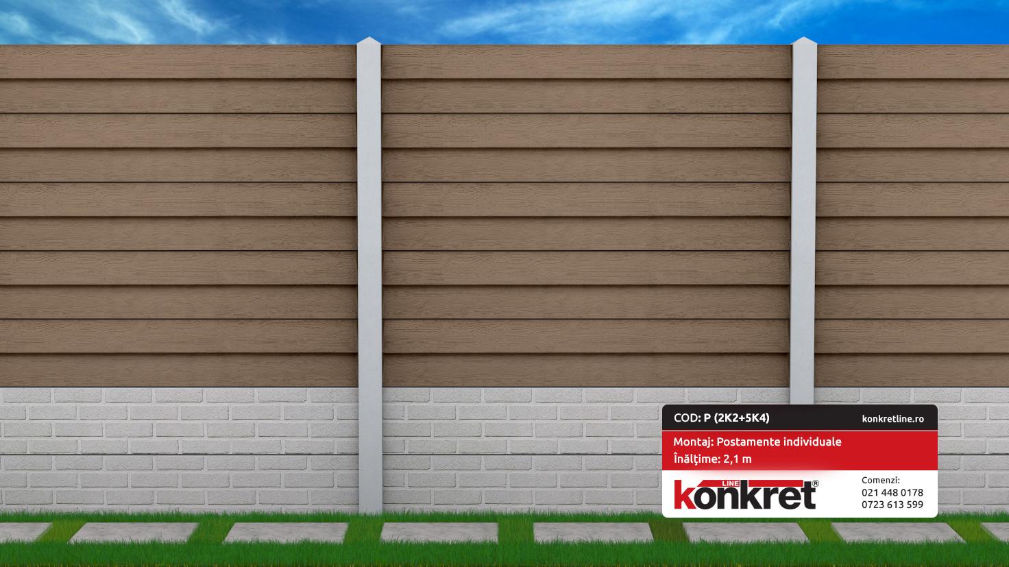 Gard prefabricat din beton - model K4