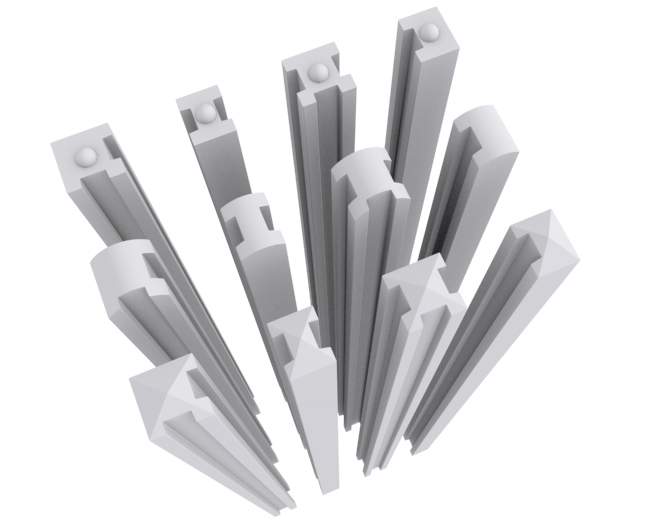 stalpi beton pentru gard prefabricat