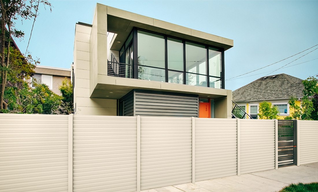 Gard prefabricat din beton, colorat, modern, model K03 - Konkret Line