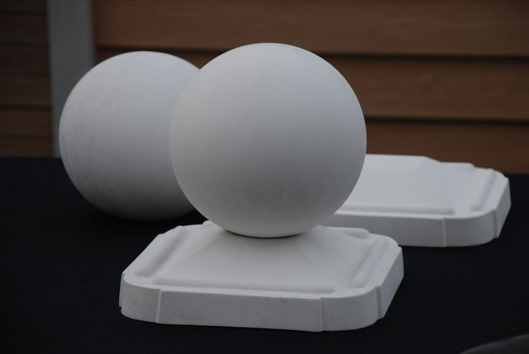 Capace sfera, capace stalpi beton, capac rotund, capac sferic, capac cu bila, capac cu sfera