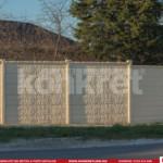 Gard prefabricat din beton - Konkret Line - K12 + accesorii