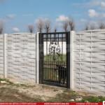 Gard prefabricat din beton - Konkret Line - K13 + Poarta metalica