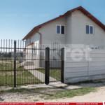 Gard prefabricat din beton - Konkret Line - K4 + Porti metalice