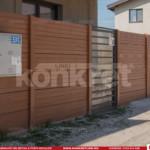 Gard prefabricat din beton - Konkret Line - K6 + Poarta metalica