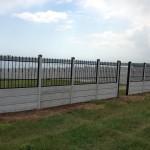 Panou K2 + Fier forjat - Gard beton prefabricat