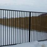 Panou K6 + Poarta metalica - Gard beton prefabricat - Confectii metalice