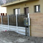 Panou K3A + Confectii metalice - Gard beton prefabricat si fier forjat