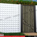 Gard modern - Model K018 - Gard prefabricat din beton Konkret Line