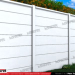 Gard modern - Model K019 - Gard prefabricat din beton Konkret Line