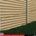 Gard modern - Model K03 - Gard prefabricat din beton Konkret Line