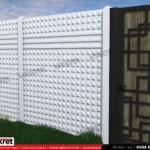 Gard modern - Model K03A - Gard prefabricat din beton Konkret Line