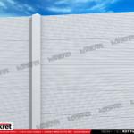 Gard modern - Model K07 - Gard prefabricat din beton Konkret Line
