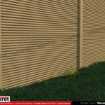 Gard modern - Model K08 - Gard prefabricat din beton Konkret Line