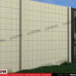 Gard modern - Model K09 - Gard prefabricat din beton Konkret Line