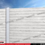 Gard modern - Model KR3 - Gard prefabricat din beton Konkret Line