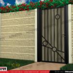 Gard piatra - Model K017 - Gard prefabricat din beton Konkret Line