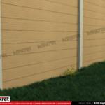 Gard lemn - Model K05 - Gard prefabricat din beton Konkret Line