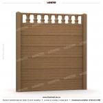 Gard caramida (Brick Line) - Model K2 - Gard prefabricat din beton Konkret Line