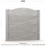 Gard caramida (Brick Line) - Model KR2C - Gard prefabricat din beton Konkret Line