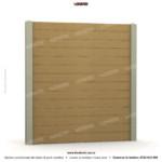 Gard lemn (Wood Line) - Model K05 - Gard prefabricat din beton Konkret Line