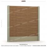 Gard lemn (Wood Line) - Model K13 - Gard prefabricat din beton Konkret Line