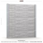 Gard lemn (Wood Line) - Model K13B - Gard prefabricat din beton Konkret Line