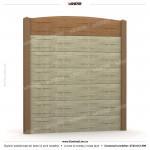 Gard lemn (Wood Line) - Model K13C - Gard prefabricat din beton Konkret Line