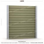Gard lemn (Wood Line) - Model K4 - Gard prefabricat din beton Konkret Line