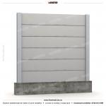 Gard lemn (Wood Line) - Model K5 - Gard prefabricat din beton Konkret Line