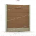Gard lemn (Wood Line) - Model K6 - Gard prefabricat din beton Konkret Line