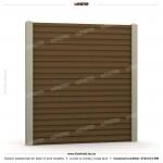 Gard modern (Modern Line) - Model K03 - Gard prefabricat din beton Konkret Line