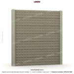 Gard modern (Modern Line) - Model K03A - Gard prefabricat din beton Konkret Line