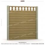 Gard modern (Modern Line) - Model K3R - Gard prefabricat din beton Konkret Line