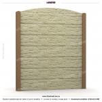 Gard piatra (Stone Line) - Model K1AC - Gard prefabricat din beton Konkret Line