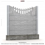 Gard piatra (Stone Line) - Model K8 - Gard prefabricat din beton Konkret Line