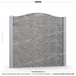 Gard piatra (Stone Line) - Model KR1C - Gard prefabricat din beton Konkret Line