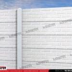 Gard caramida K2 - Gard prefabricat din beton - Konkret Line