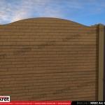 Gard caramida - Model KR2C - Gard prefabricat din beton Konkret Line