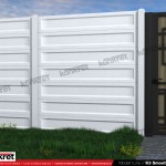 Gard modern - Model K3 - Gard prefabricat din beton Konkret Line