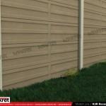 Gard modern - Model K3R - Gard prefabricat din beton Konkret Line