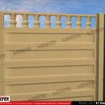 Gard modern - Model K7 - Gard prefabricat din beton Konkret Line