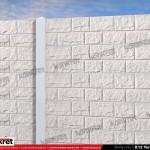 Gard piatra - Model K12 - Gard prefabricat din beton Konkret Line