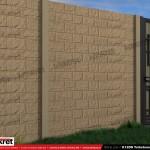 Gard piatra - Model K12DS - Gard prefabricat din beton Konkret Line