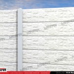 Gard piatra - Model K1A - Gard prefabricat din beton Konkret Line