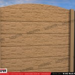 Gard piatra - Model K1AC - Gard prefabricat din beton Konkret Line