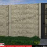 Gard piatra - Model K1B - Gard prefabricat din beton Konkret Line