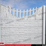 Gard piatra - Model K8 - Gard prefabricat din beton Konkret Line
