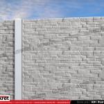 Gard piatra - Model KR1 - Gard prefabricat din beton Konkret Line