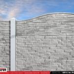 Gard piatra - Model KR1C - Gard prefabricat din beton Konkret Line